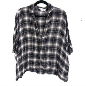 Slouchy oversized tank flannel F25